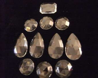 Glass Cabochons for Crafting, Various Sizes and Shapes
