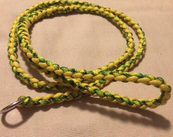 Custom paracord slip lead- YOU CHOOSE COLORS Paracord Slip leash, training leash