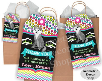 Lumberjack birthday, wolf favor tags, Pink Teal Purple Woodland, Great Wolf Lodge, favor tags, Rustic camping label loot bag candy FTLJ13