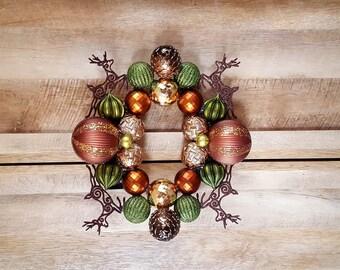 Brown Deer Ornament Wreath