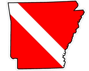 Arkansas State (B6) Diver Down Flag Yeti Tumbler Decal Sticker Laptop