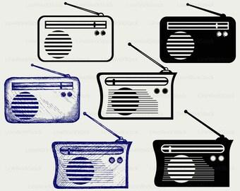 Radio clipart | Etsy