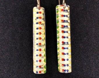Tin Rectangle Earrings