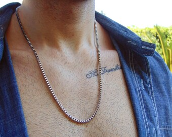 Mens Stainless Steel Chain Necklace,Stainless steel jewelry,Mens Necklace,Stainless Steel Chain Necklace,Men Jewelry,Biker necklace