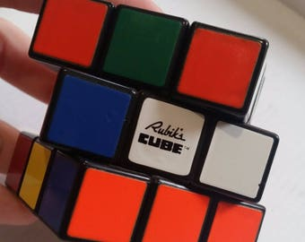 Original Rubik cube - Puzzle cube - Brain game - Old logic game - Hungarian 3D puzzle square - Magic cube - Old toy, Rubik's cube - Vintage