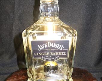 Recycled Jack Daniels Single Barrel Lamp, Desk Light, Collector Bottle, Man Cave Light, Bar Light, Unique Lighting, Whiskey Bottle Lamp