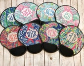Lilly Inspired Mousepad with Wrist Rest, Monogram Mousepad, Mousepad with Gel Pad, Lilly Inspired Mousepad, Monogrammed Mousepad - lilly