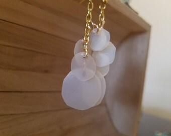 Milk jug recycled earrings
