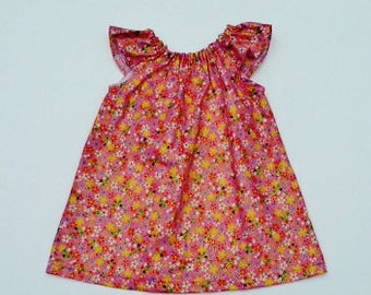 Flutter sleeve dress,   Clothing for baby girls, sizes 3,6, 9,12 months, Floral dress, Summer dress