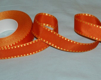 25 mm orange/yellow woven ribbon-2 metres-Easter decoration