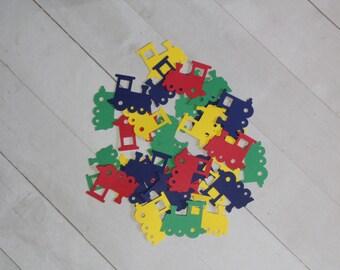 100 Train Confetti Die Cut | Train Birthday Confetti