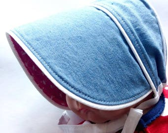 Baby traditional sunhat bonnet 0-3