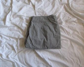 grey pinstripe pants