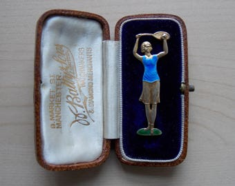 1930s Art Deco Tennis Player Brooch