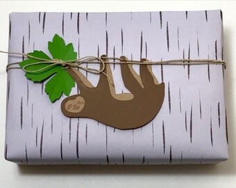 Hanging Sloth Package Topper
