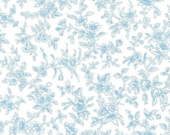 Simply Chic - Blossom Sky Blue - Sold by the Half Yard