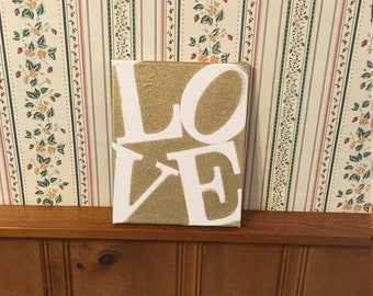 8x10 love canvas