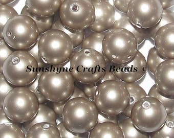 Swarovski Crystal 5810 Simulated Pearls - PLATINUM Round Beads - Sizes 4mm, 6mm & 8mm available