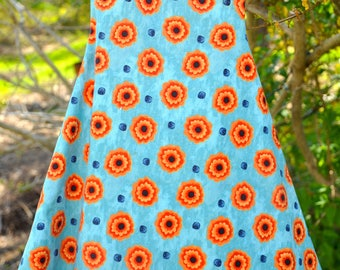 Brightly colored cotton dress