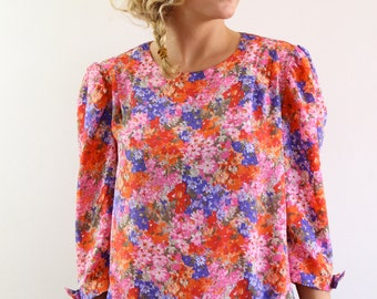 Blouse floral vintage Made in France.Taille L