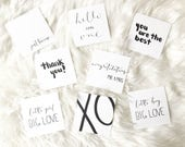 Calligraphy Card / Blank Card / Greeting Card / FLASH SALE - 5 for 5!