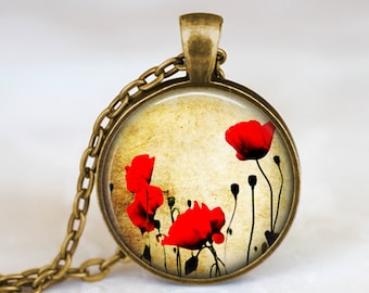 Poppy - Nature Flower Handmade Pendant Necklace