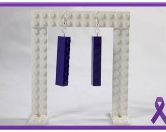 Lego Earrings - 6sie (Purple)