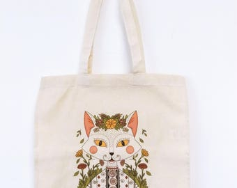 Romanian Traditional Cat Tote Bag