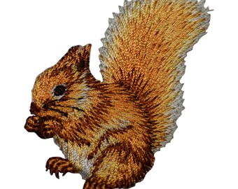 Squirrel Applique Patch (Iron on)