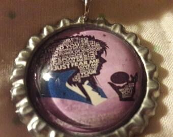 Labyrinth Jareth inspired Bottle cap keyring