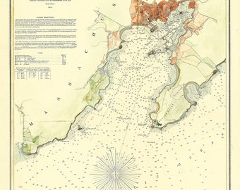0456-Gloucester Harbor 1854 -  The U. S. Coast and Geodetic Survey