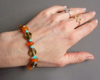Frosted glass beads bracelet
