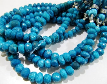 Best Quality Natural Chrysocolla Beads / Rondelle faceted Graduated Beads 6 to 10mm / Strand 8 Inches Long / Finest Quality Unique Gemstone.
