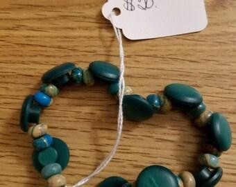 Bracelet Button Bead Blue