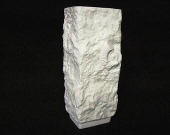 Porcelain Kaiser Op art Fossil vase Mid Century Modern Bisque vase Germany