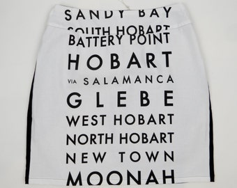 Women's Hobart suburbs skirt. Size 8
