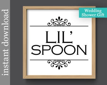 Lilu0027 Spoon printable, bedroom wall art, instant download, bedroom decor,  wedding shower gift, romantic bedroom print, little spoon printable