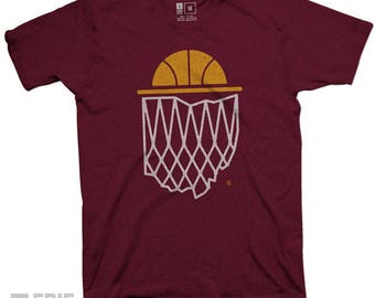 Cleveland themed Cavaliers Ohio Vintage Cavs Basketball t-shirt