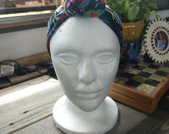 Upcycled knotted headband