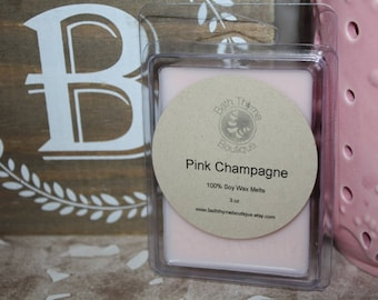 Soy Wax Melts, Pink Champagne Soy Wax Melts, Scented Wax Melts, Clamshell Wax Melts, Soy Wax Tarts, Soy Wax Cubes, Champagne Soy Wax Melts