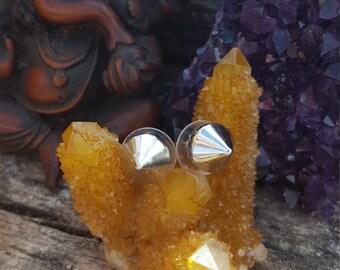 Petite Silver Spike silver Earrings