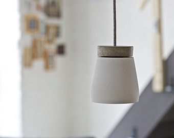 LED lamp frida white concrete - incl. illuminant