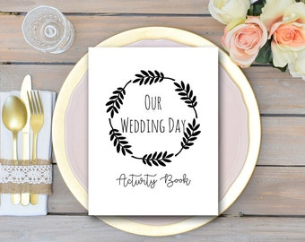 Wedding Kids Activity Book and Coloring, Wedding Kids Table Activities, Coloring Book Childrens Activity Sheets, Kids Maze, TG00 TH00