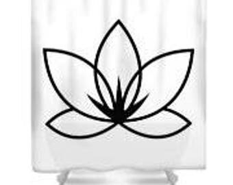 Shower Curtain, Lotus Flower, by JA Cahill Art
