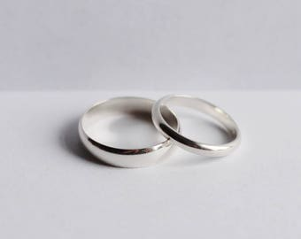 Handmade Sterling Silver Wedding Bands