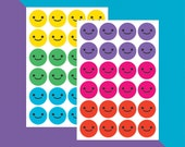 Colourful Smiley Faces x 48 // Teacher Stickers