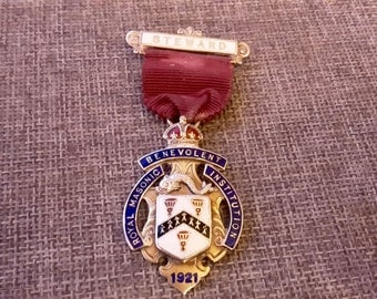 This is a stunning quality vintage silver and enamel masonic jewel medal Birmingham 1920