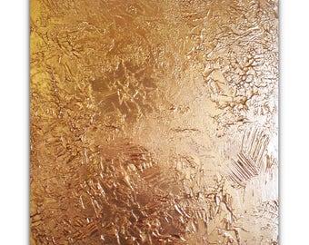 Abstract Gold painting Gold Textured Modern canvas art Original wall art Acrylic painting Wall hanging art Gold wall decor 20x24 (50x60cm)