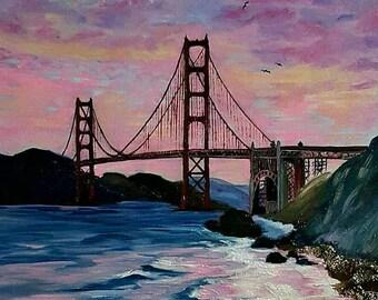 Golden Gate Bridge, original oil painting