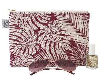 Tropical printed zipper pouch, Iphone 7 plus pouch/Original ANJESY Designs.